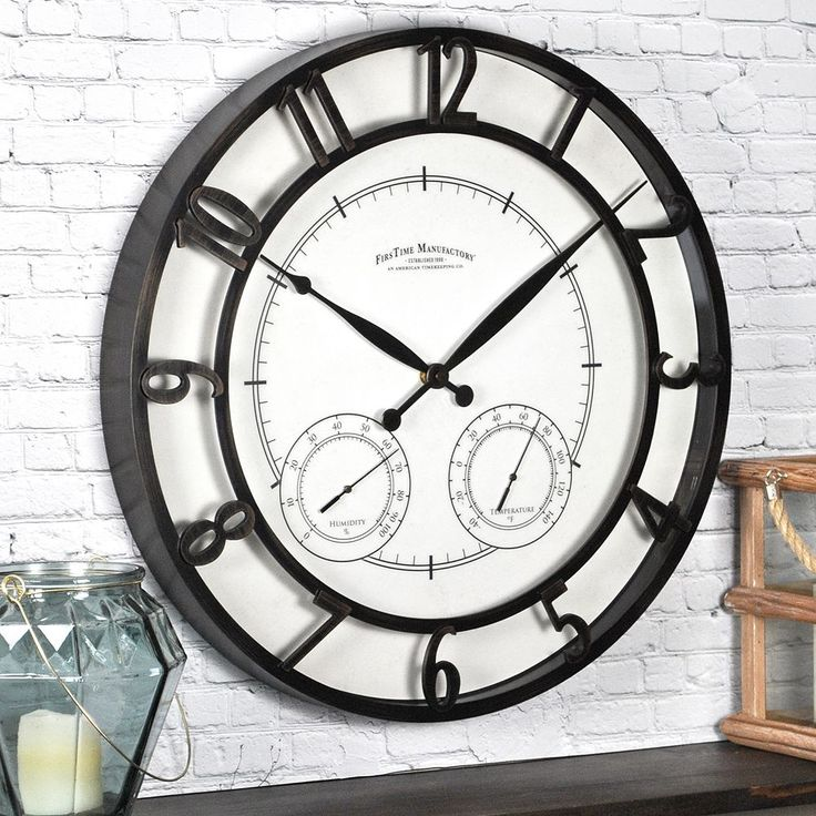 FirsTime Park Outdoor Wall Clock, Brown Oth