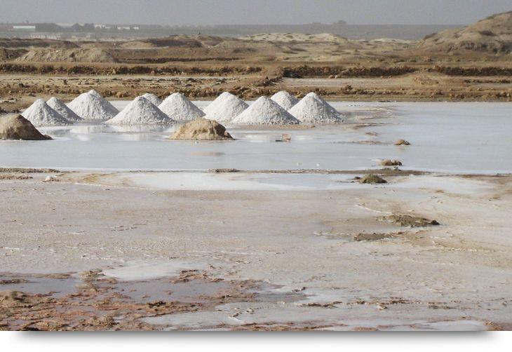 Salt mines northeast of Santa Maria - Sal, Cape verde islands