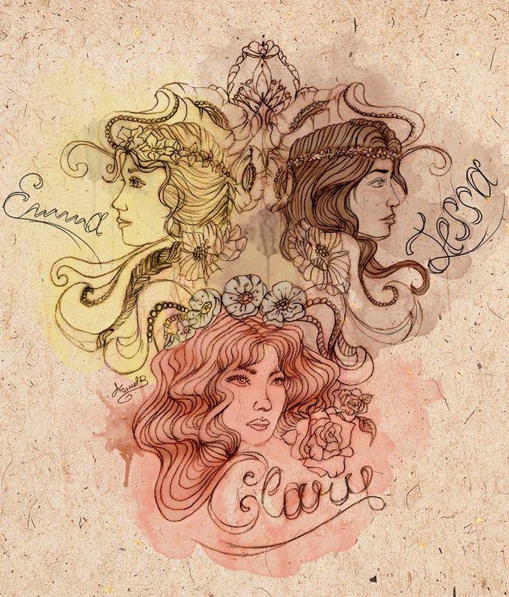 Emma, Tessa and Clary