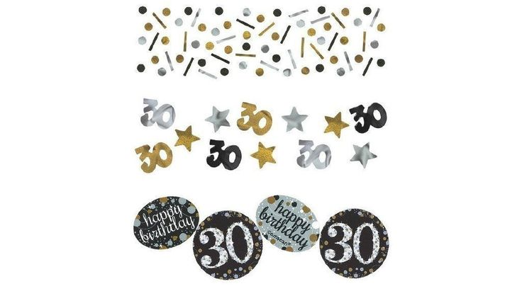 30th Birthday Party Sparkling Confetti (1.2 Ounce)