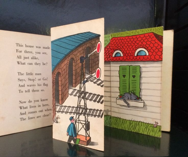 """Vintage flap book by H A Rey """"Anybody at Home""""."""