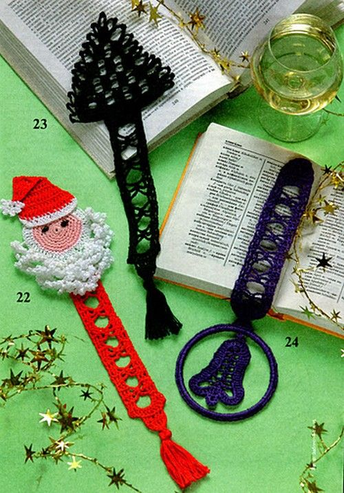Free Crochet Patterns; Christmas ornaments, bookmarks, stocking, angel, filet snowman placemats, window decoration, hot pad, and more.