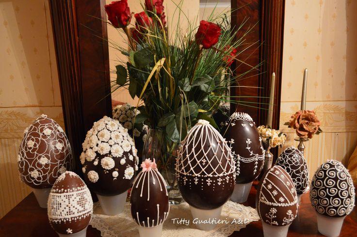 Uova di Pasqua decorate - Chocolate Easter egg - Fabergé Royal Icing Art