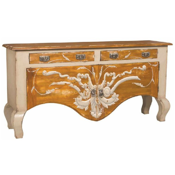 Whimsical Painted Country Sideboard
