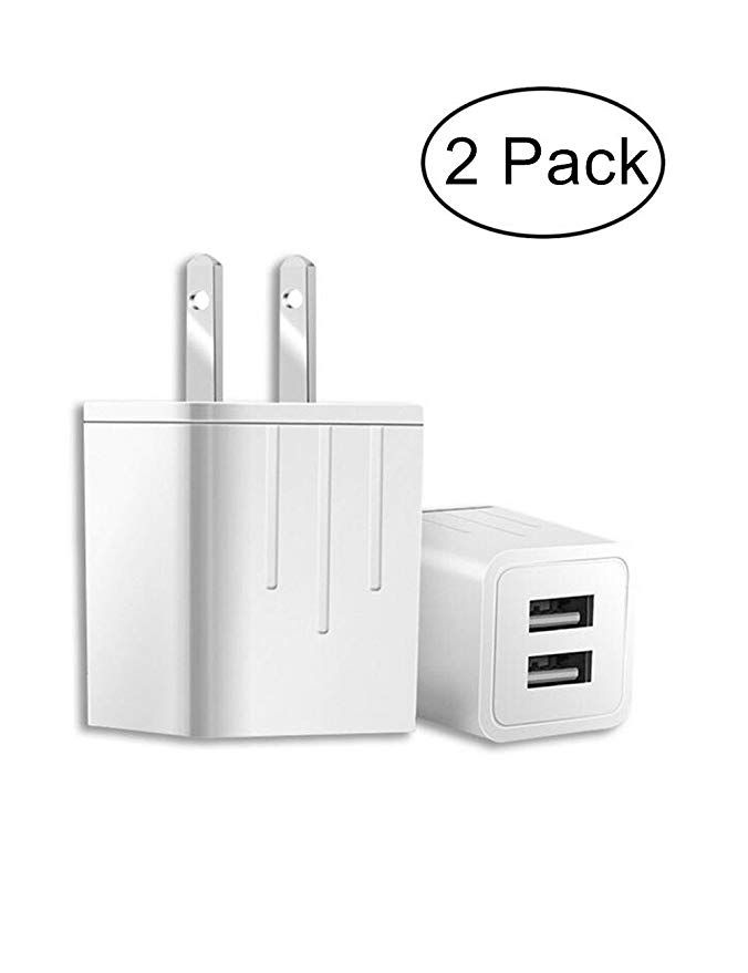 online store 4d592 cc141 USB Wall Charger,2 Ports 2.1 Amp Portable Travel Charger 2-Pack USB ...