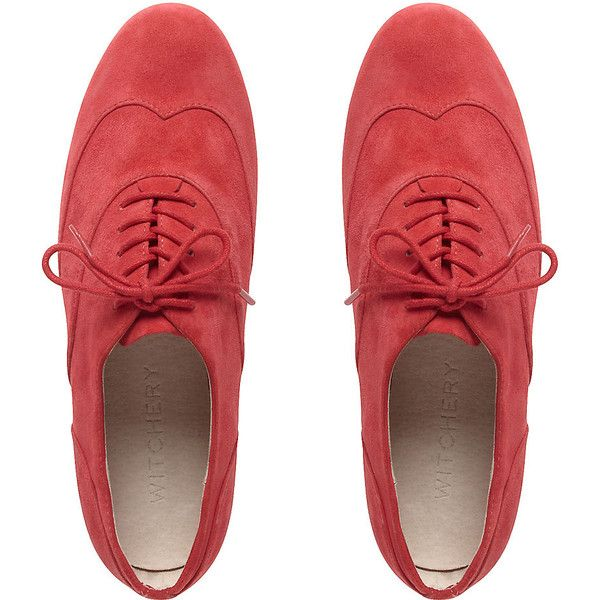 Bobby Brogue (675 ZAR) ❤ liked on Polyvore featuring shoes, oxfords, flats, sapatos, brogues, women, bobbies shoes, oxford flat shoes, suede flat shoes and oxford brogues