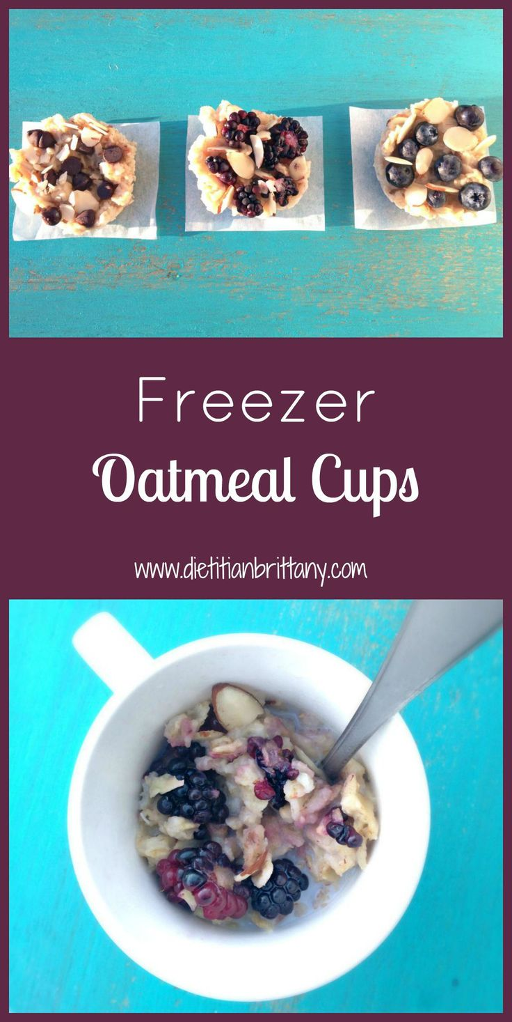 Freezer Oatmeal Cups. Perfect for busy mornings!