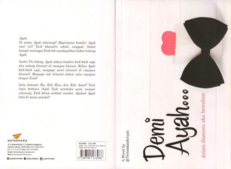 ,Sobat,  Dapatkan Buku bagus berjudul #DemiAyah dari @TerimakasihAyah di Gramedia /Gunung Agung.