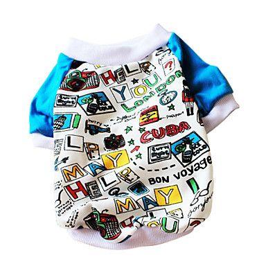 Stilfuld Cool mønster London Style T-shirt til kæledyr Hunde (assorterede farver) – DKK kr. 71