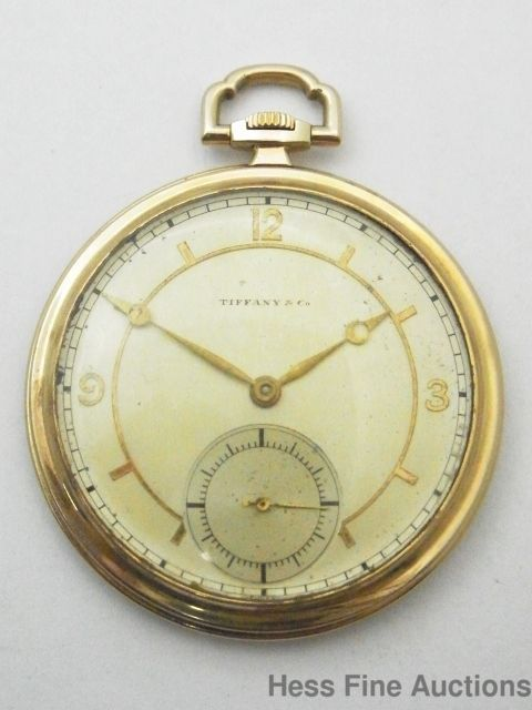 Monroe Family Crest Scottish American Tiffany 14k Gold Large Mens Pocket Watch #TiffNYcO