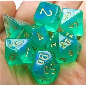 RPG Dice Set (Borealis Pale Green) role playing game dice