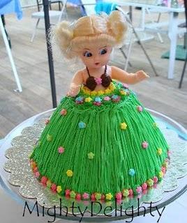 Hula Girl cake for Tabitha's 1st B-day
