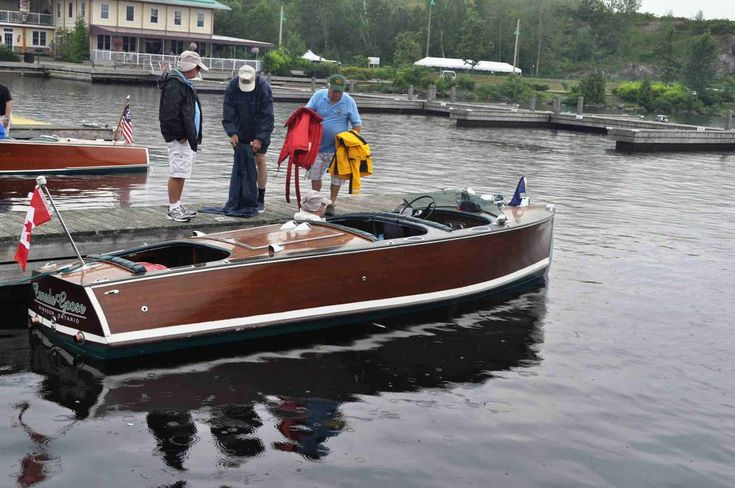 The Pawluchyk 's load their rare 20 ft 1939 Peterborough Seafarer Deluxe.