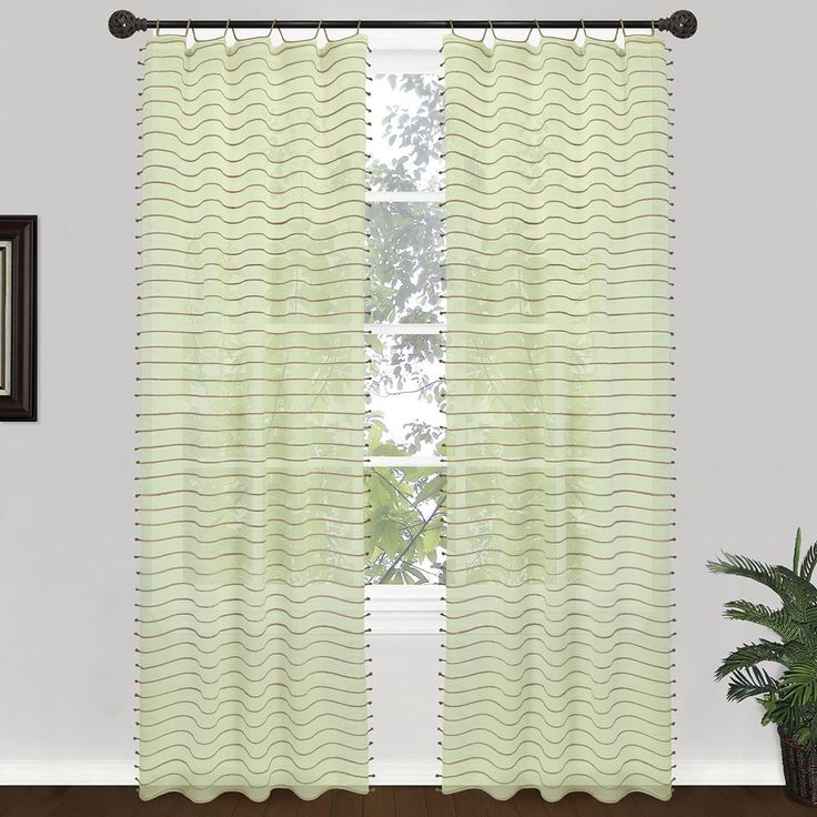 Park B. Smith Jordan Serpentine Window Panel - 40'' x 84'', Green
