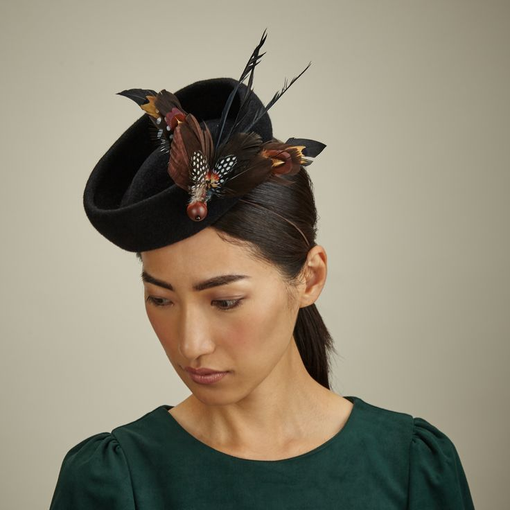 Lock & Co Hatters, Couture Millinery - By Milliner Sylvia Fletcher - A/W 2015, Faye hat. #passion4hats