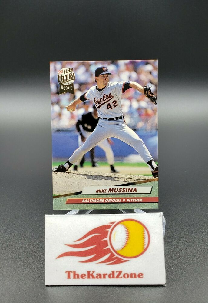 Mike Mussina 1992 Fleer Ultra Base Rookie Card 9 Orioles Ny Yankees Hof Star Newyorkyankeesorioles In 2020 Orioles Ny Yankees Cards