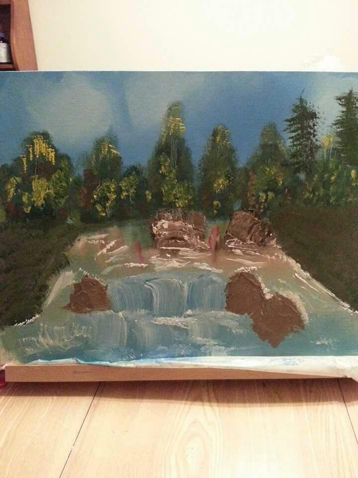 Tried bob ross painting