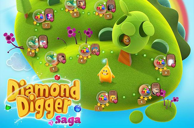 Diamond Digger Saga, nog een leuk en verslavend spel op Facebook