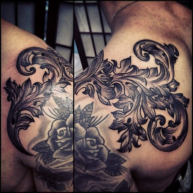 17 best images about cover ups on pinterest baroque rose sleeve tattoos and retro style. Black Bedroom Furniture Sets. Home Design Ideas