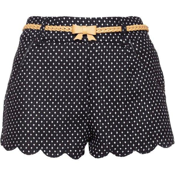 Yumi Polka dot shorts ($23) found on Polyvore