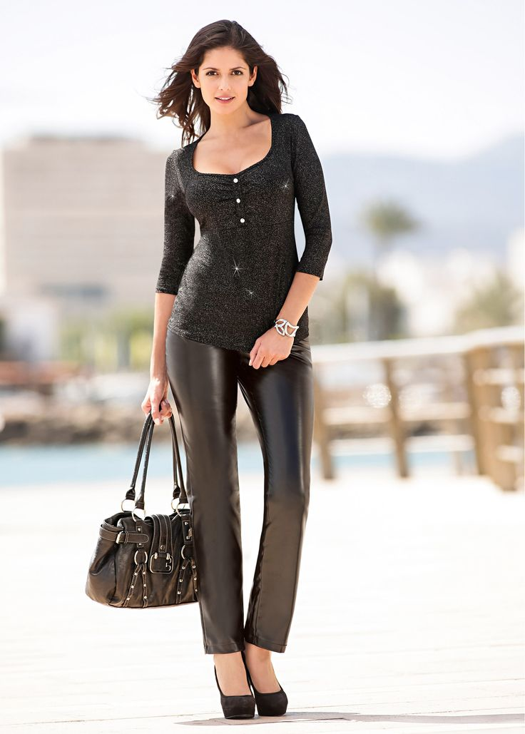 Carla Ossa   Carla Ossa   Black leather pants, Leather ...