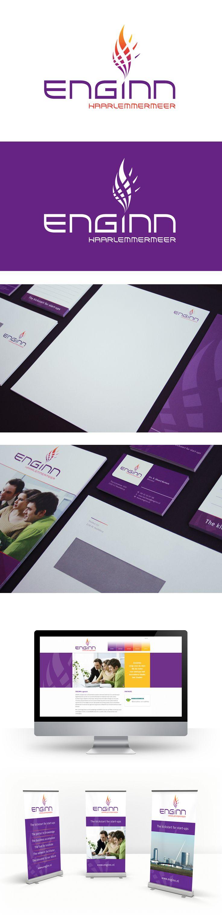 ENGINN is dé plaats waar je als innovatieve ondernemer terecht kunt voor ondersteuning en begeleiding bij het oprichten van je eigen (duurzame) bedrijf. Voor dit nieuwe initiatief heeft ZIGT Studio een totale identiteit ontworpen.