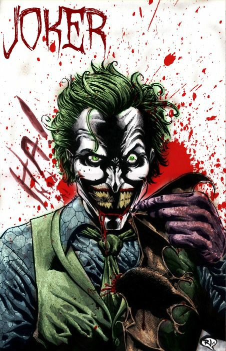 Joker Batman Detective Comics cover commission My Facebook page: www.facebook.com/FrankAKadar