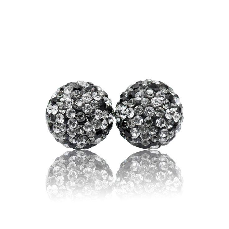 10mm Fade Sparkle Ball Stud Earrings by Hillberg & Berk