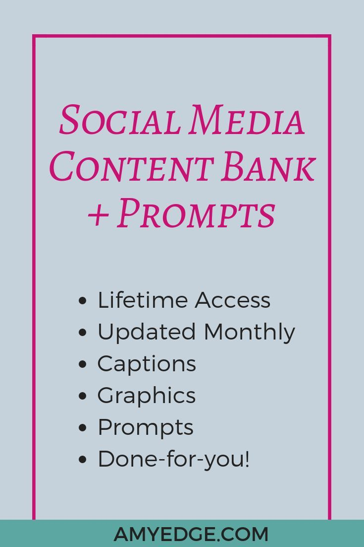 ULTIMATE Social Media Content Bank + Prompts