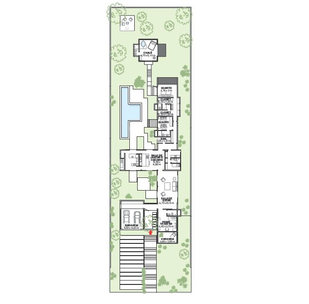 Casa de campo tem um chalé anexo 24 m2 com banheira de hidromassagem   – Casa de Campo