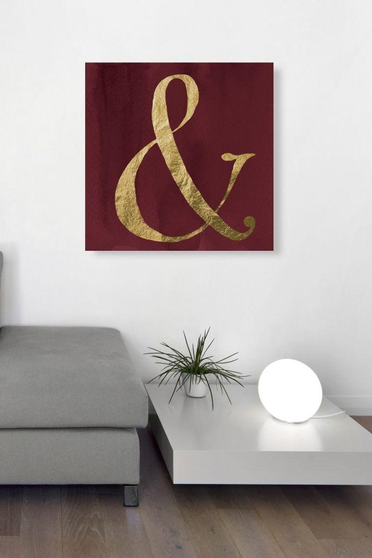 Beautiful! Marsala Ampersand Wall Art | HauteLook