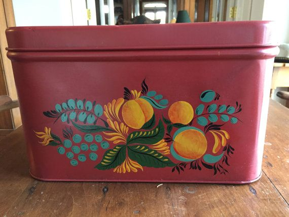 Vintage Bread Box by TinPeddler on Etsy