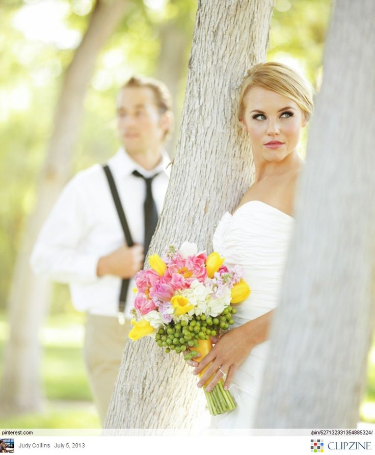 Bridal Photography - a bit like hide and seek... love this.