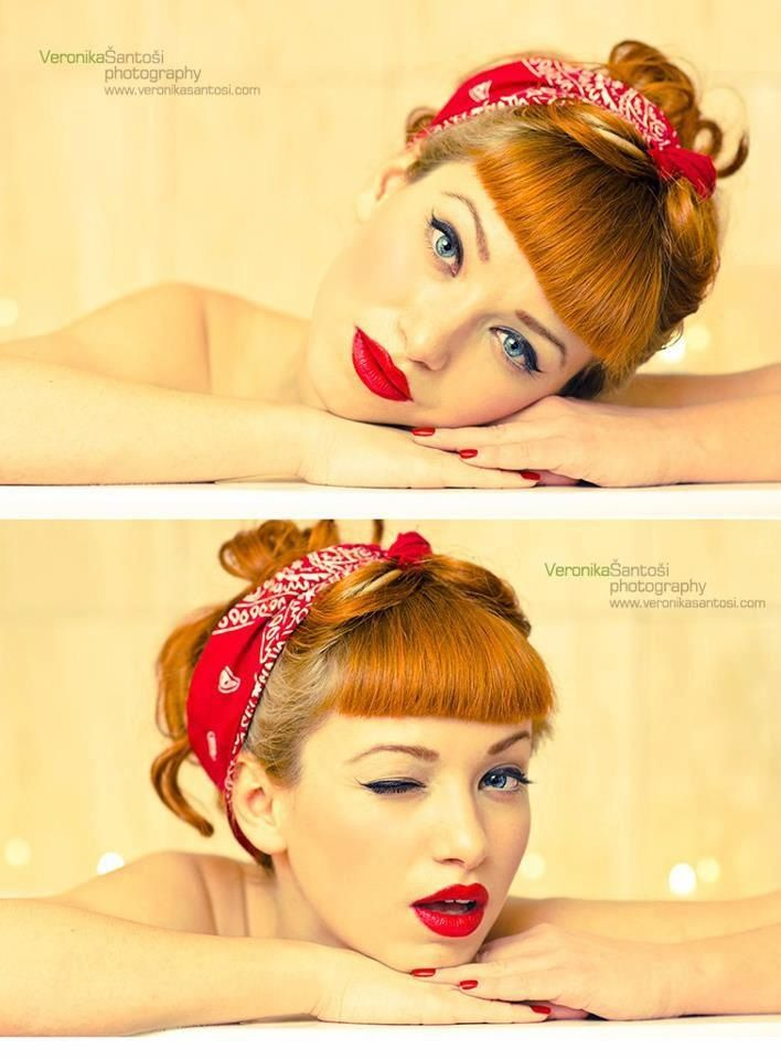 Perfect Rosie the Riveter hair