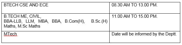 #TheNorthCapUniversity Orientation Programme scheduled on 22 July 2016 will now be held on 23 July 2016 (Saturday) from 8 AM onwards as under:-