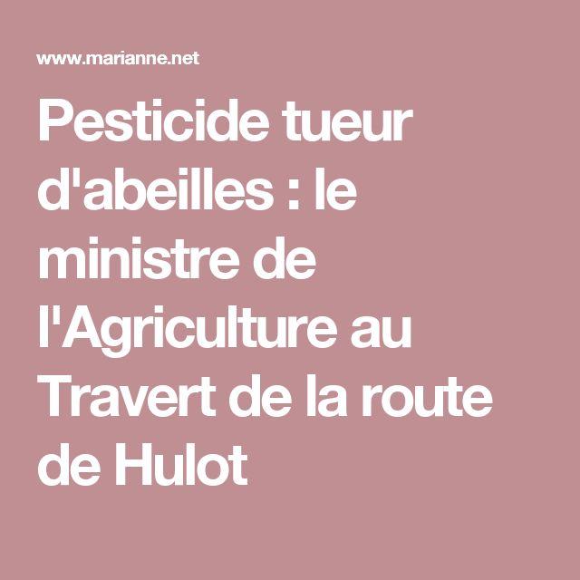 Pesticide tueur d'abeilles : le ministre de l'Agriculture au Travert de la route de Hulot