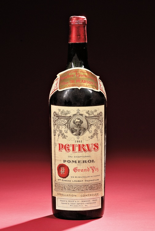 1961 Petrus: one of the most legendary and sought-after bottles in the history of wine.