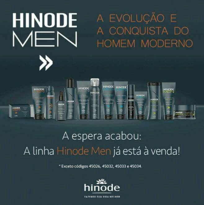 Pode se preparar, a linha Hinode Men já está à venda! São itens para o cabelo, corpo, desodorante, barba e limpeza de pele. Aproveite, opções de venda é que não vão faltar!