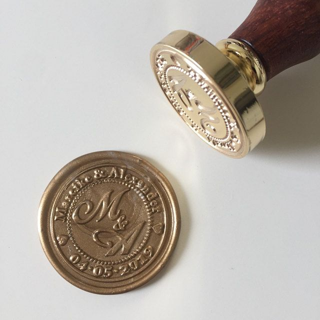 Personalized Names with Infinite Symbol Wax Seal Stamp  Custom Wax Sela KitCustom Seal StampInvitation seal stamp