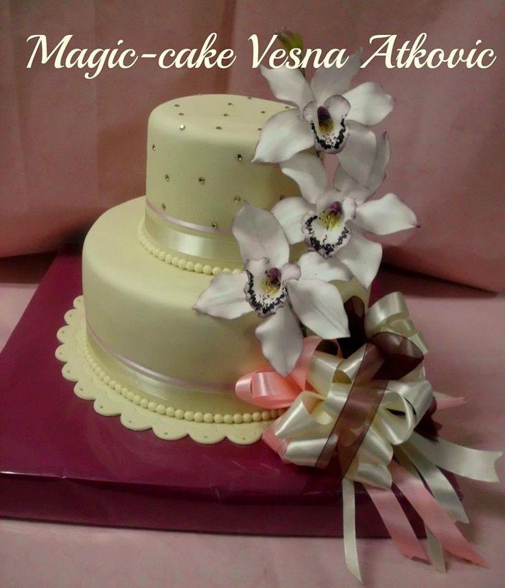 Elegant cake with orchids 14 best Elegant