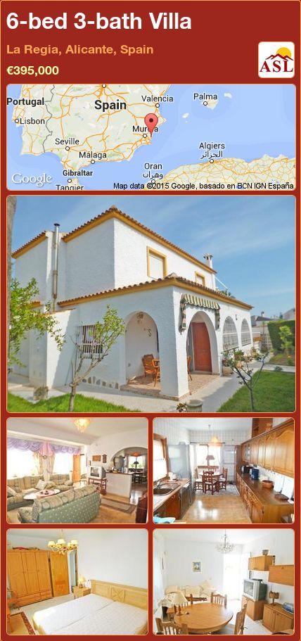 6-bed 3-bath Villa in La Regia, Alicante, Spain ►€395,000 #PropertyForSaleInSpain