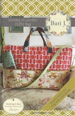 Holiday in London Duffle Bag Pattern by Bari J.