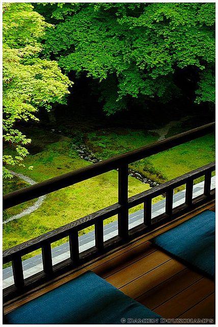 Balcony of Ruriko-in, Kyoto, Japan