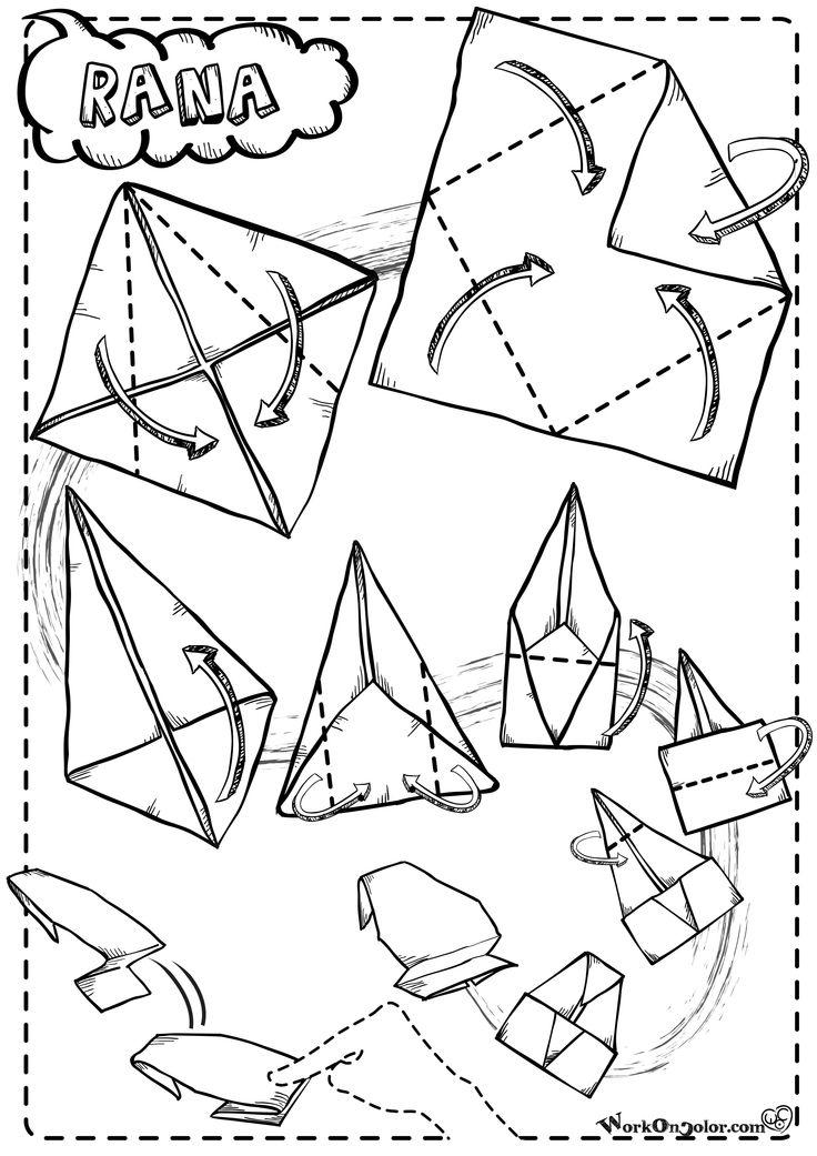 Origami frog, guaranteed for jump! - Rana salterina, facile da piegare e da far saltare! http://www.workoncolor.com