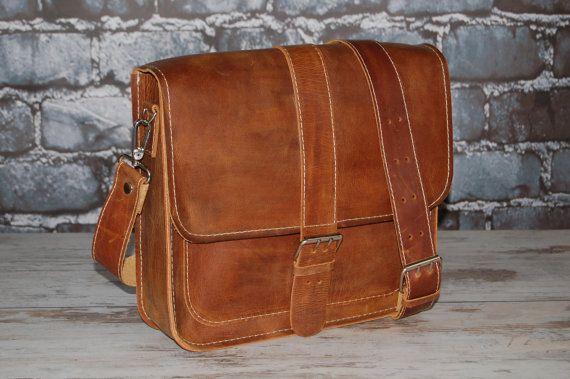 Leather Messenger Bag Briefcase Handbag Satchel by etoidesign