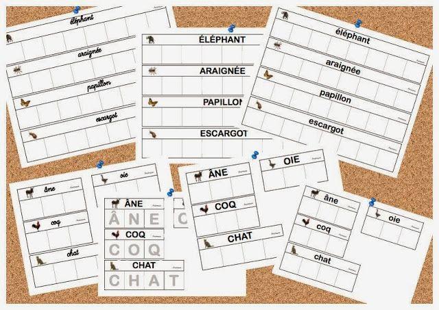fiches mots pour l'atelier des lettres Nathan - La classe de laurène