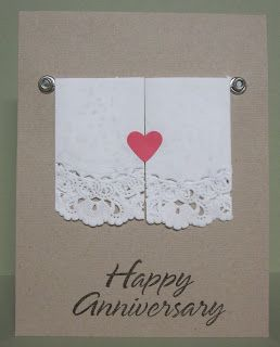 I have some anniversaries sneaking up on me so I needed to come up with a card.   For this one I used two jumbo silver eyelets and se...