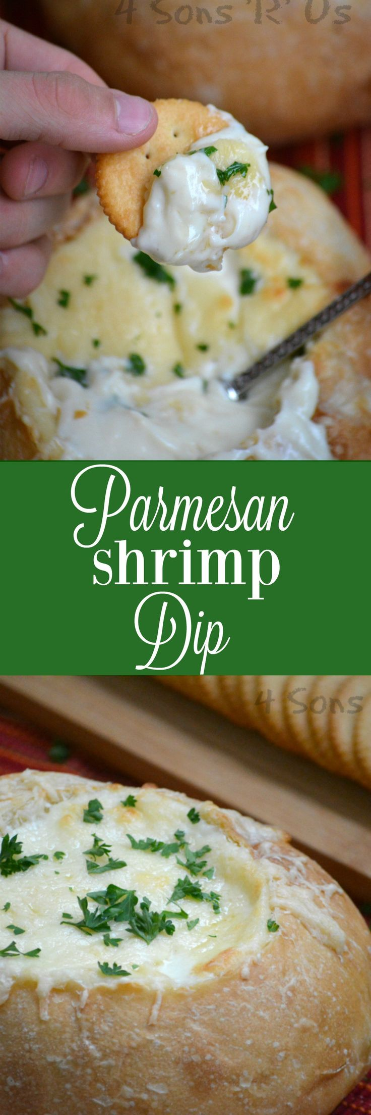 This Parmesan Shrimp Dip is so creamy, it's also cheesy with hints of garlic and packed with chunks of fresh shrimp. Baked in a crispy bread bowl, it's a perfect appetizer to be the center of any table >>>>  https://ooh.li/9a00833 @StellaCheese #StellaCheeses #QualitySince1923 #ad