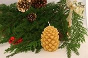 This natural beeswax pinecone is designed by nature. Even the wax is direct from the honeybees. We use a natural filtering process that doesn't alter the wax. It is not processed as other waxes are.