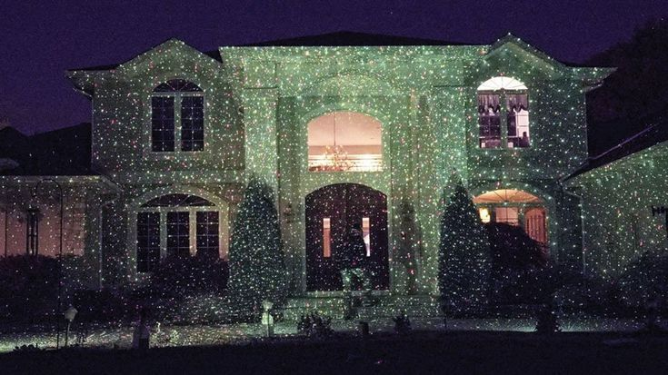 Star Shower Outdoor Laser Christmas Light Projects Cheer On Your Home -  #christmas #laser #lights #star